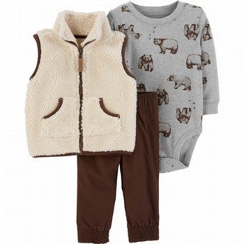 Carter's 3PC Sherpa Vest Set