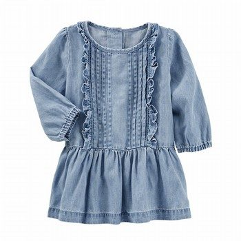 OshKosh Denim Drop Waist Dress Olympia Wash