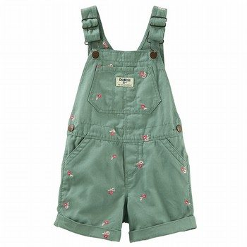 OshKosh Flower Twill Shortalls