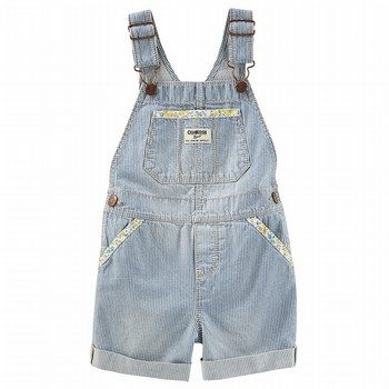 OshKosh Hickory Stripe Overalls - Ozark Blue Wash