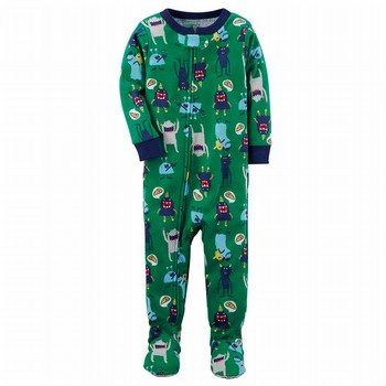 Carter's Snug Fit Monster Footed Cotton PJs