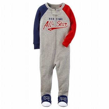 Carter's Snug Fit All-Star Footed Cotton PJs