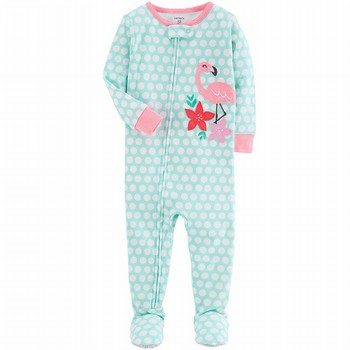 Carter's Neon Flamingo Snug Fit Onepiece Cotton PJs
