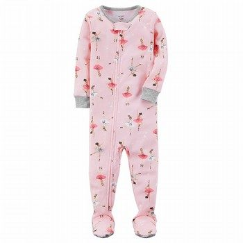 Carter's Snug Fit Ballerina Footed Cotton PJs