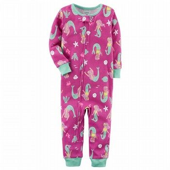 Carter's Neon Zip-Up Onepiece Cotton PJs