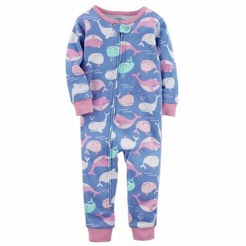 Carter's Whale Snug Fit Onepiece Cotton Footless PJs