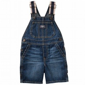 OshKosh Denim Shortalls - Holiday Dark Wash