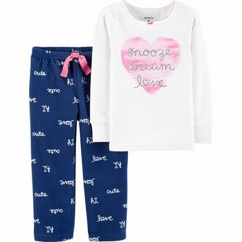 Carters' 2PC Cotton & Fleece PJ Set