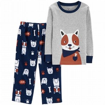 Carter's 2PC Dog Snug Fit Cotton & Fleece PJs
