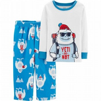 Carter's 2PC Yeti Cotton &  Fleece PJs