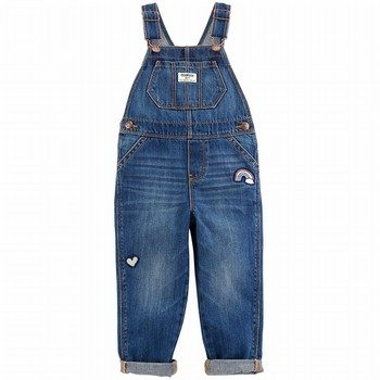 OshKosh B'gosh Rainbow Patch Overalls - Medium Wash