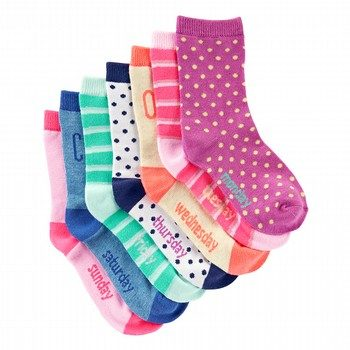 Oshkosh 7PK Weekday Crew Socks