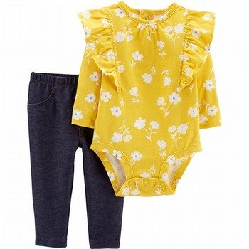 Carter's 2PC Floral Bodysuit & Pant Set
