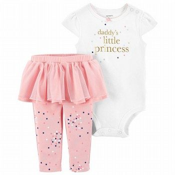 Carter's 2PC Princess Bodysuit & Tutu Pant Set