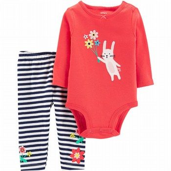 Carter's 2PC Bunny Bodysuit & Pant Set