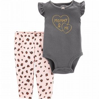 Carter's 2PC Mommy & Me Bodysuit & Pant Set