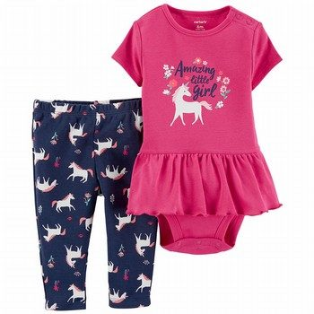 Carter's 2PC Unicorn Bodysuit & Pant Set