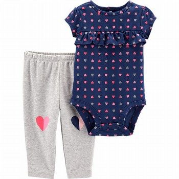 Carter's 2PC Heart Bodysuit & Pant Set