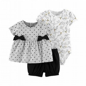 Carter's 3PC Unicorn Little Short Set