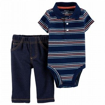 Carter's 2PC Polo Style Bodysuit & Pant Set