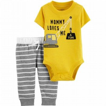 Carter's 2PC Construction Bodysuit & Pant Set