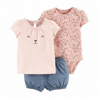 Carter's 3PC Bear Little Short Set
