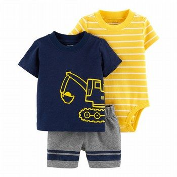 Carter's 3PC Construction Little Short Set
