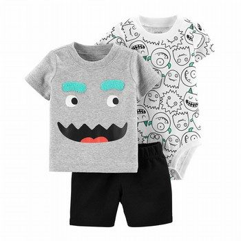 Carter's 3PC Monster Little Short Set