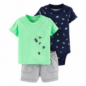 Carter's 3PC Bug Little Short Set