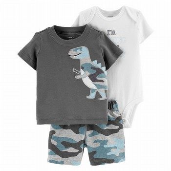 Carter's 3PC Dinosaur Little Short Set