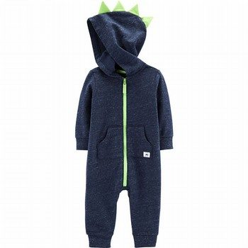 Carter's Hooded Dinosaur Jumpsuit