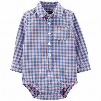 OshKosh B'gosh Checkered Button-Front Bodysuit