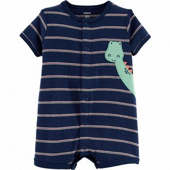 Carter's Striped Dinosaur Romper