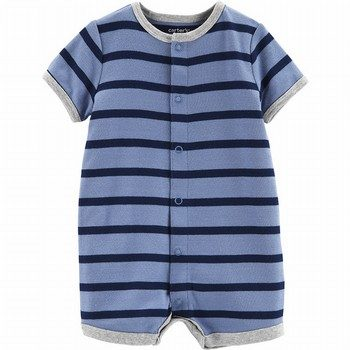 Carter's Striped Boat Snap-Up Romper