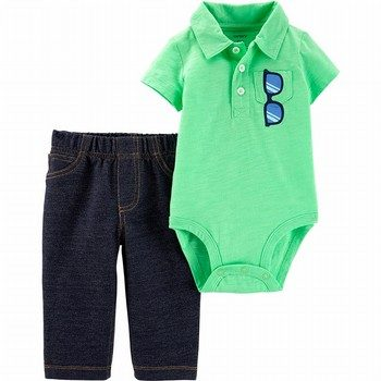 Carter's 2PC Polo Bodysuit Pant Set