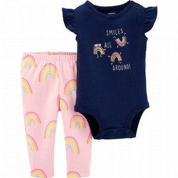 Carter's 2PC Rainbow Bodysuit Pant Set