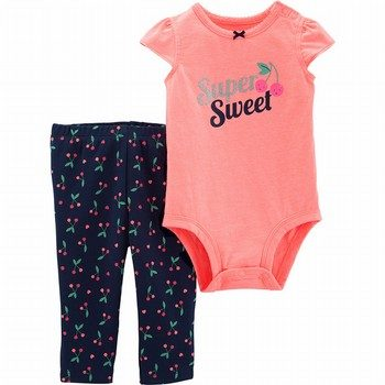 Carter's 2PC Cherry Bodysuit Pant Set