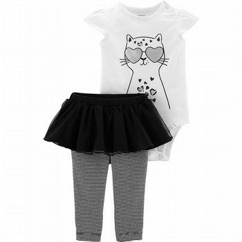 Carter's 2PC Foil Cat Bodysuit & Tutu Pant Set