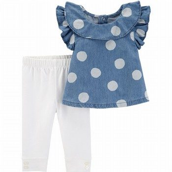 Carter's 2PC Polka Dot Top & Legging Set