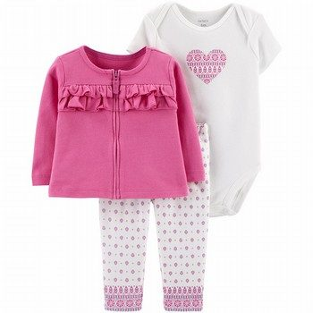 Carter's 3PC Heart Cardigan Set