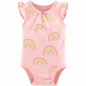 Carter's Rainbow Flutter-Sleeve Collectible Bodysuit