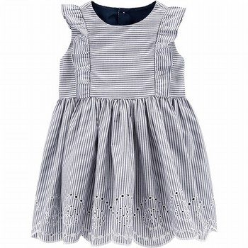 Carter's Striped Eyelet Dress