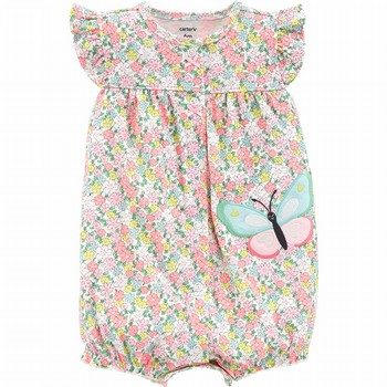 Carter's Floral Butterfly Snap-Up Romper