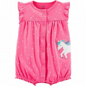 Carter's Polka Dot Unicorn Snap-Up Romper