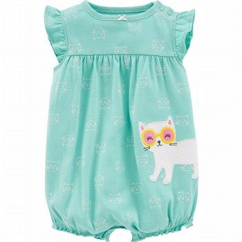 Carter's Cat Cotton Romper
