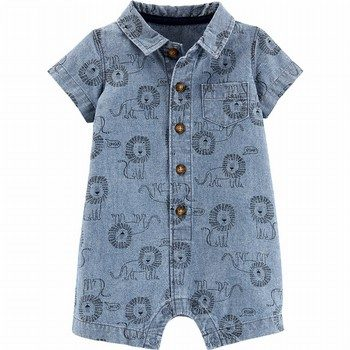 Carter's Lion Button-Front Romper