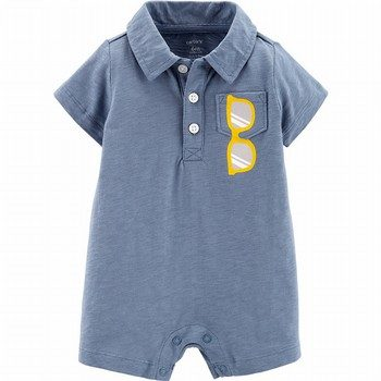 Carter's Sunglasses Slub Polo Romper