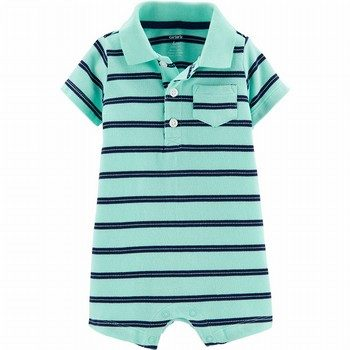 Carter's Striped Pique Polo Romper