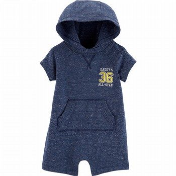 Carter's Hooded Marled Yarn Romper