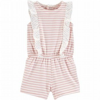 Carter's Striped Ruffle Romper